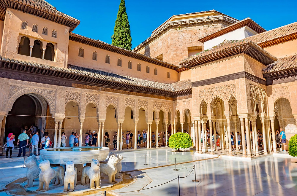 the Nasrid Palace, Courtyard of the Lions