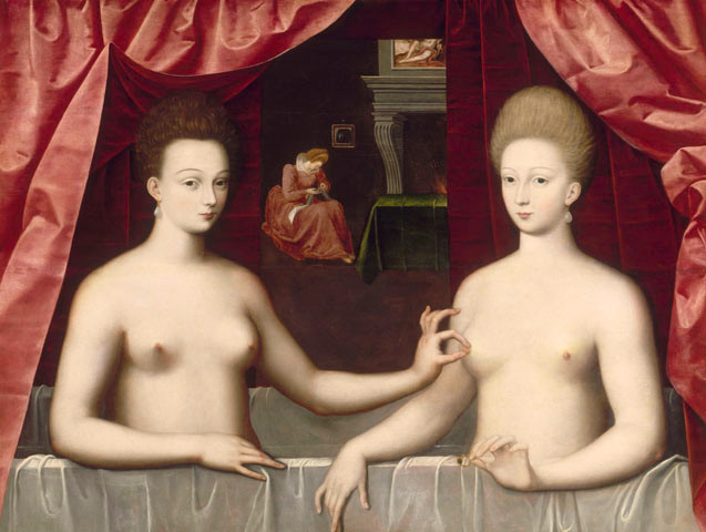 Gabrielle d'Estrées and One of Her Sisters, 1594, at the Louvre