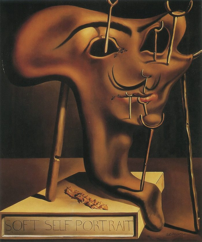 Salvador Dali, Soft Self Portrait With Bacon, 1941, at the Dali Museum in Figueres