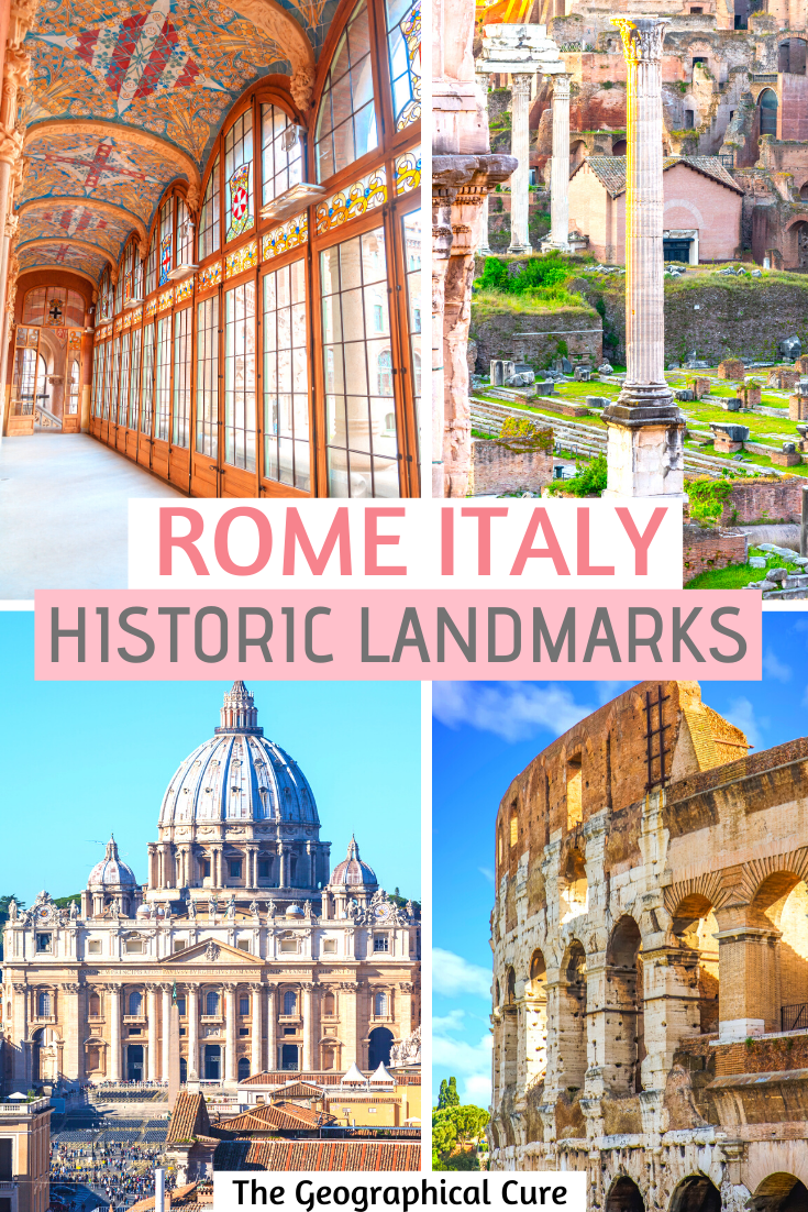Historic Landmarks and Ruins in Rome Italy