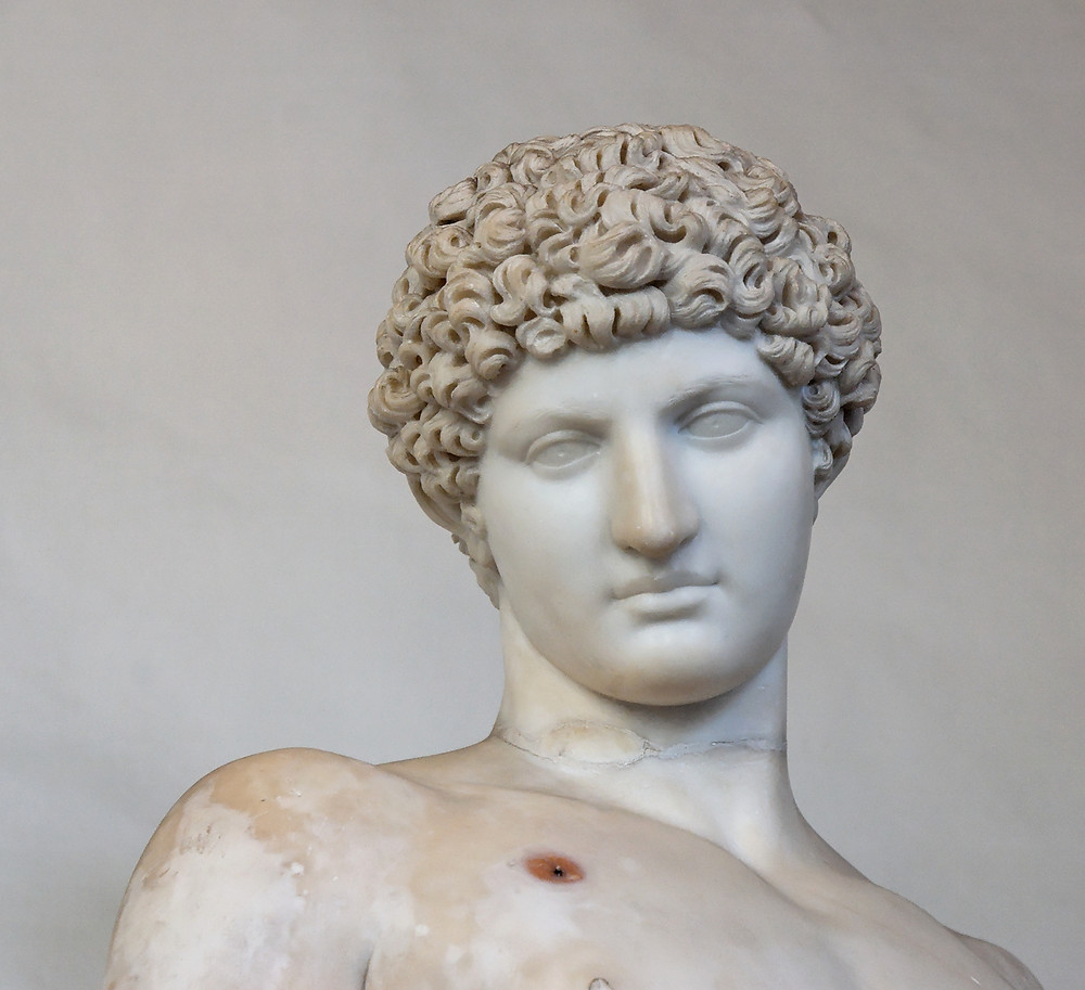 bust of Antinous in the Capitoline Museum in Rome
