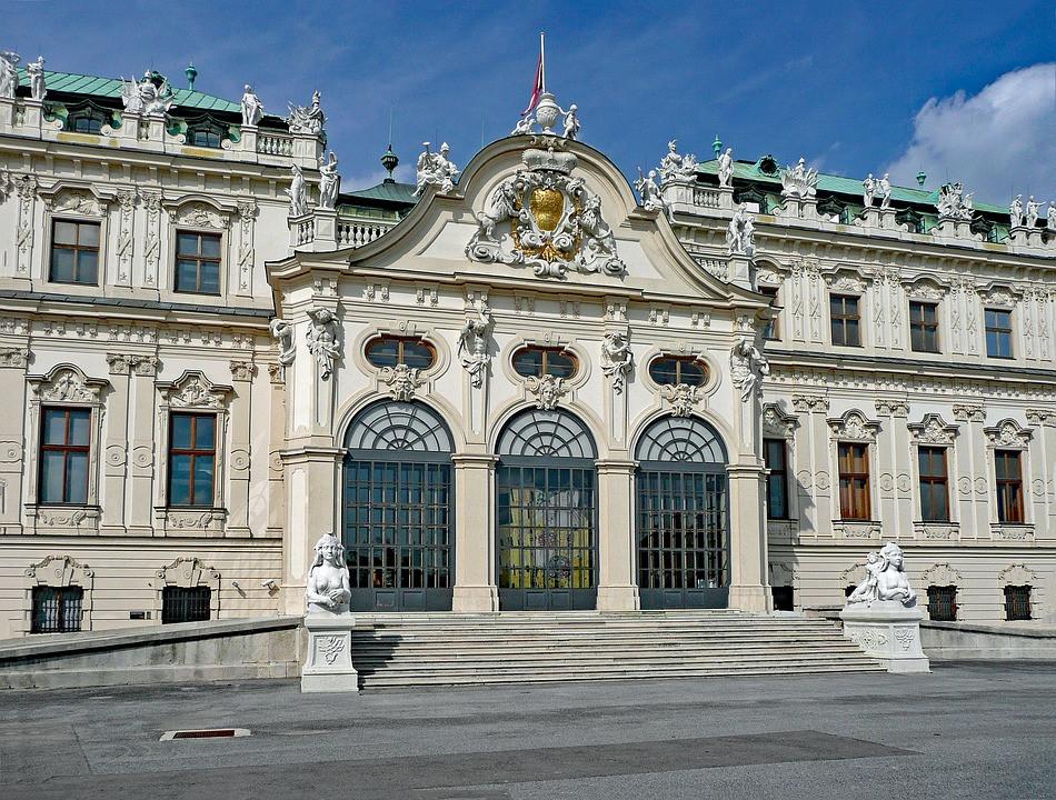 the Belvedere museum in Vienna