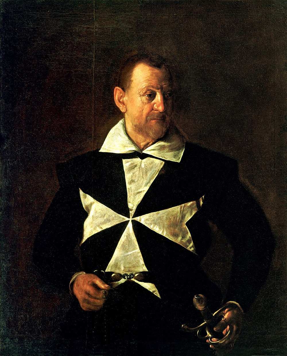 Caravaggio, Portrait of a Knight of Malta, 1608 -- in Florence's Pitti Palace