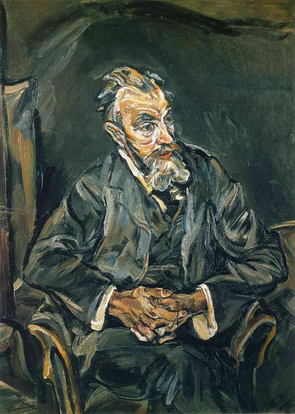 Oscar Kokoschka, The Painter Carl Moll, 1913