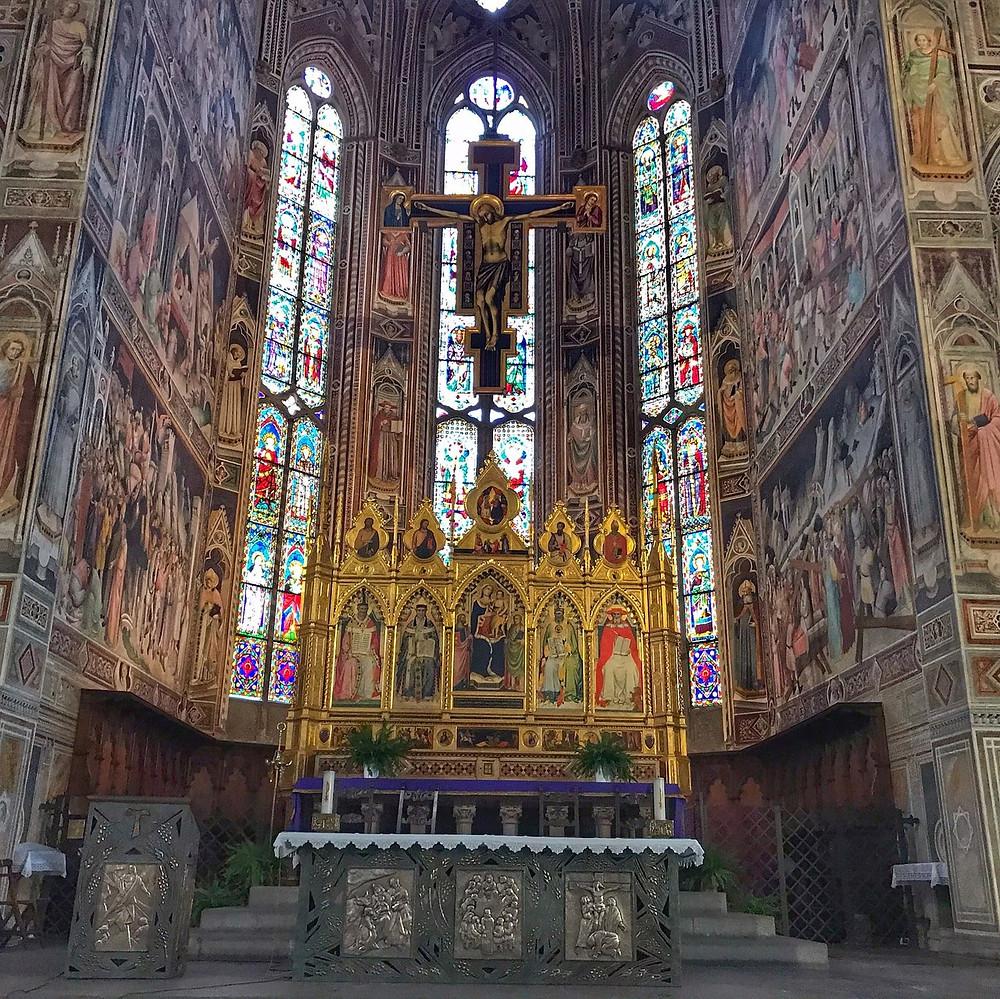 the apse of Santa Croce