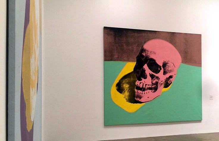 skull painting at the Warhol Museum