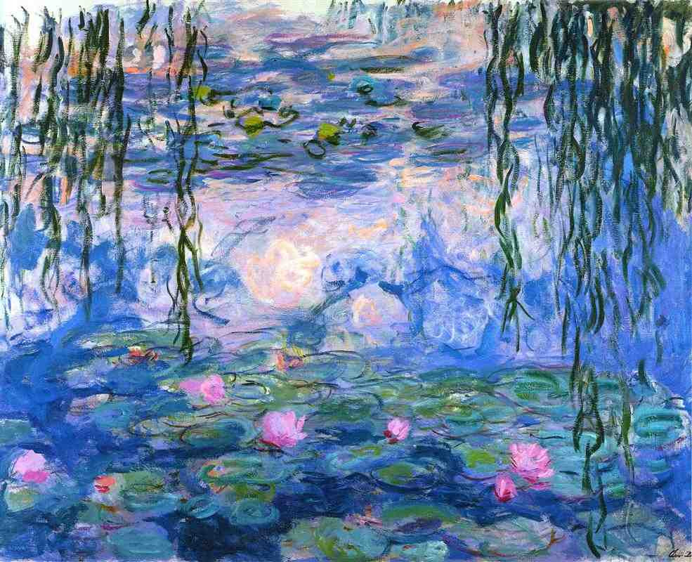 Monet water lily painting in the Marmottan Monte Museum in Paris