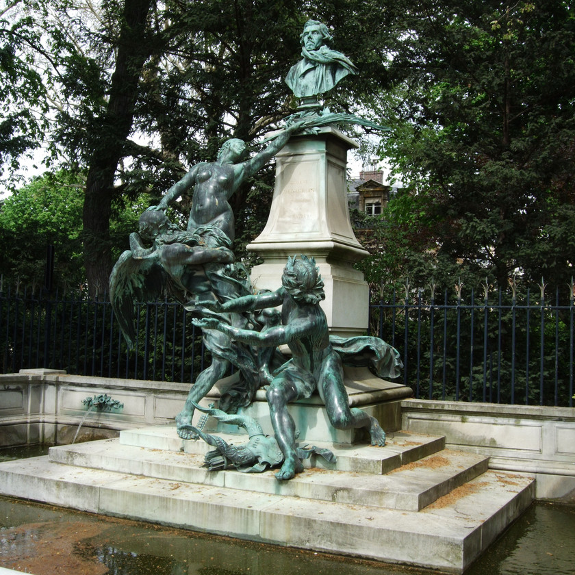 Monument to Delacroix in Luxembourg Gardens in Paris