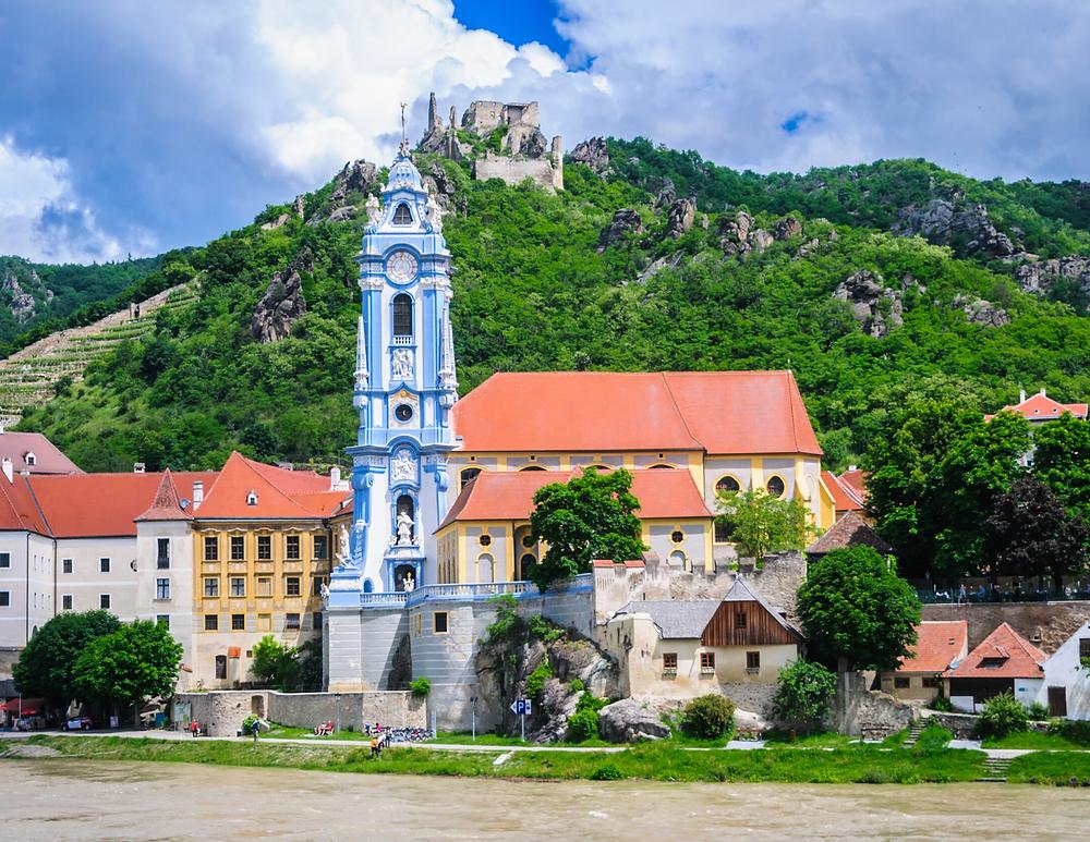 the beautiful little village of Durnstein in the Wachau Valley