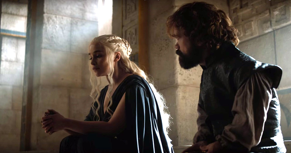 Daenerys and Tyrion chat about politics