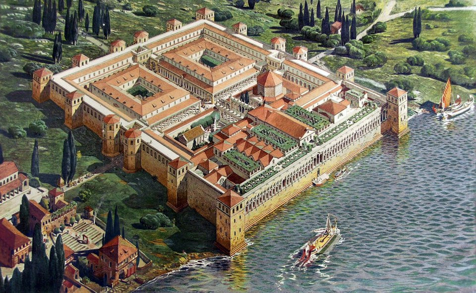 model reconstruction of Diocletian's Palace. image source: i.imgur.com