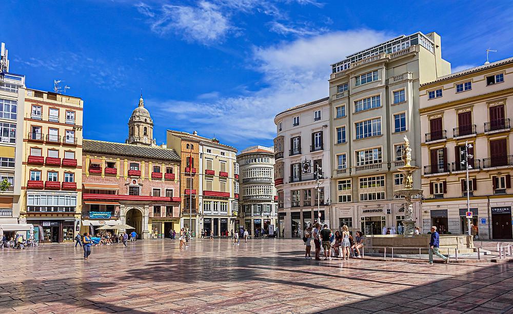 Plaza de la Constitution in Malaga
