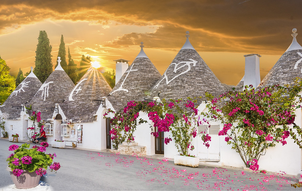 Trulli homes in Alberobello Puglia