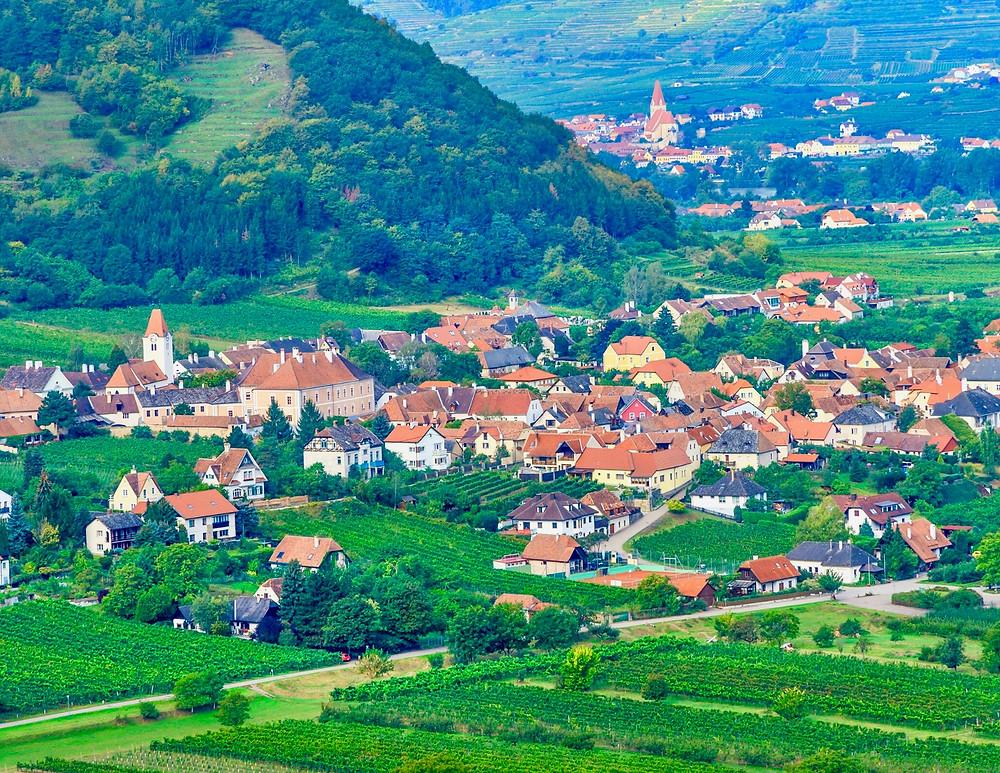 village of Durnstein, a must visit town in the Wachau Valley