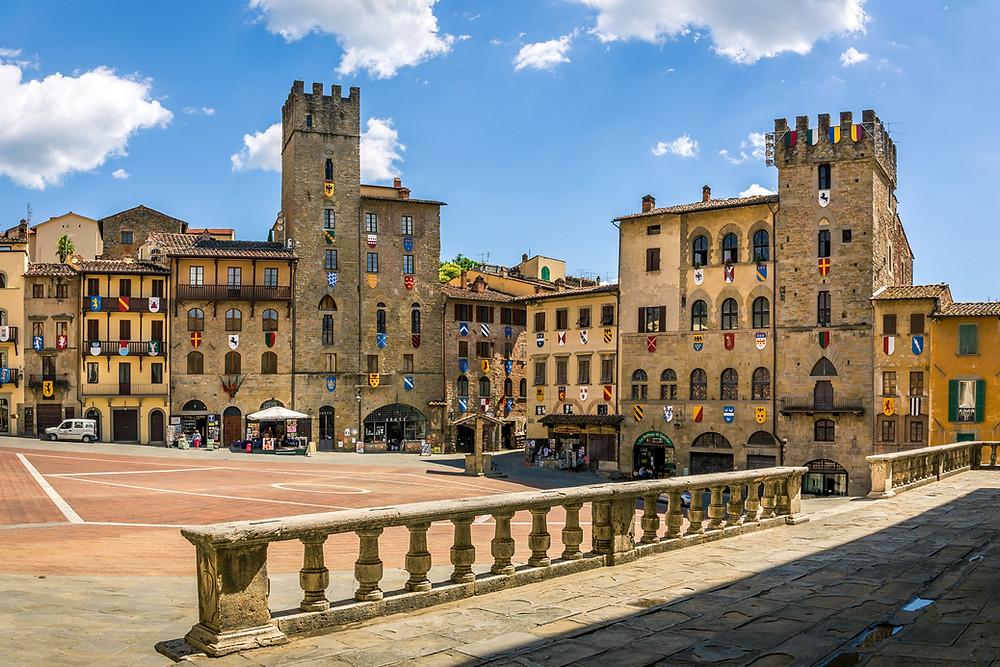 Piazza Grande, the main square of Arezzo