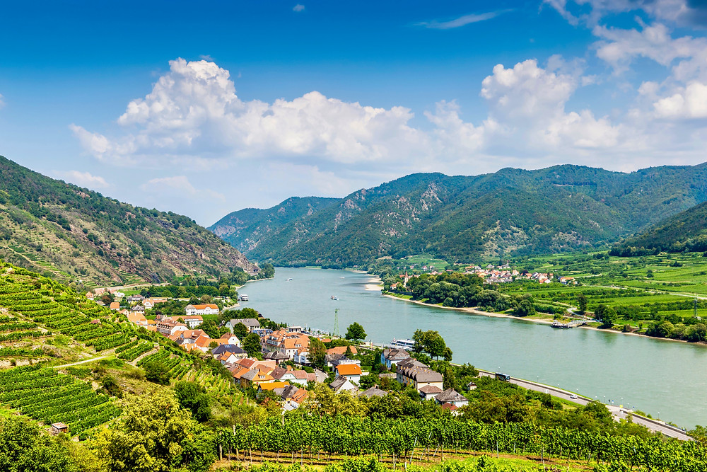 the tiny village of Spitz in the Wachau Valley on the Danube River