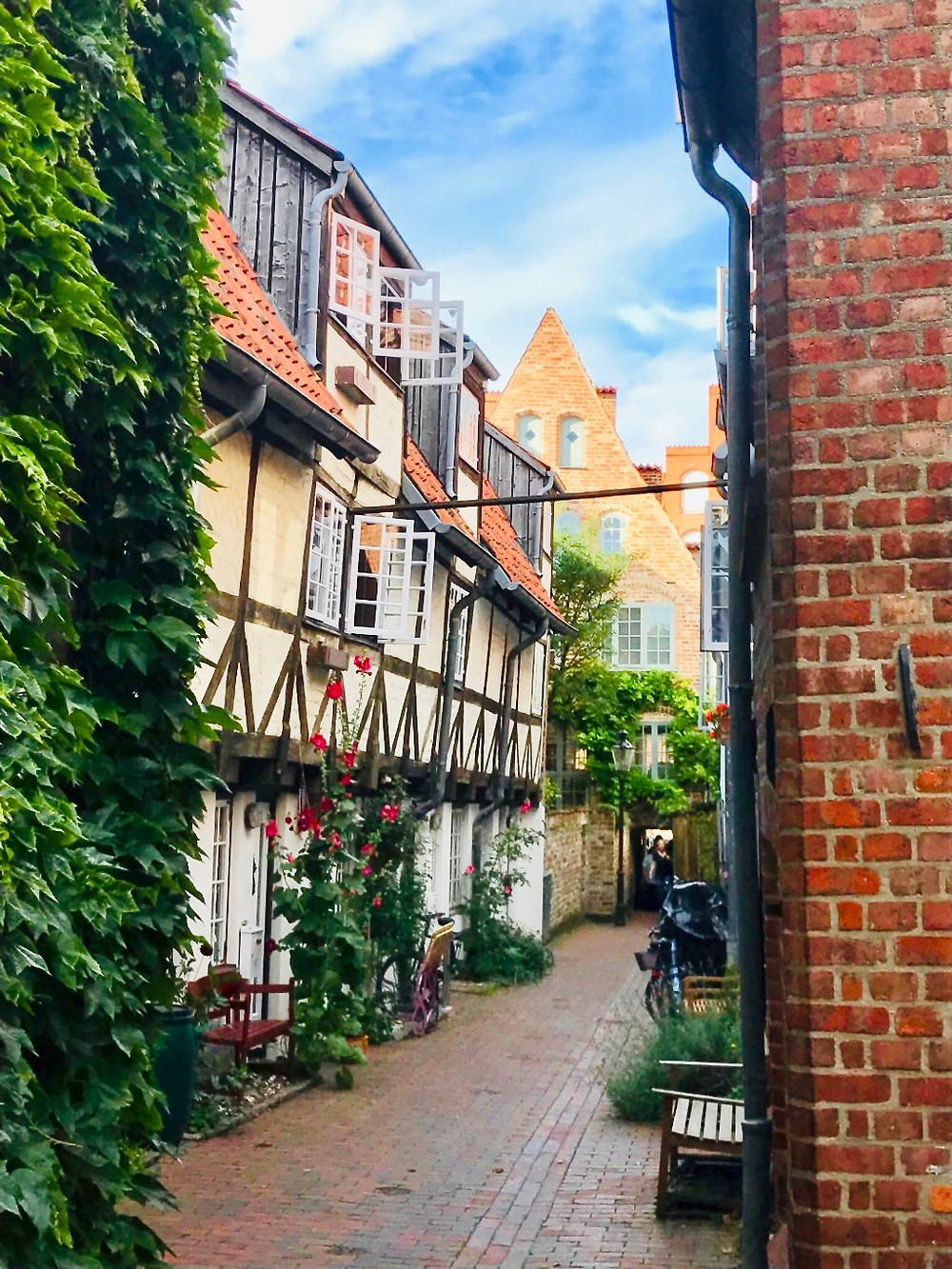 cobbled lane in the UNESCO-listed Lubeck