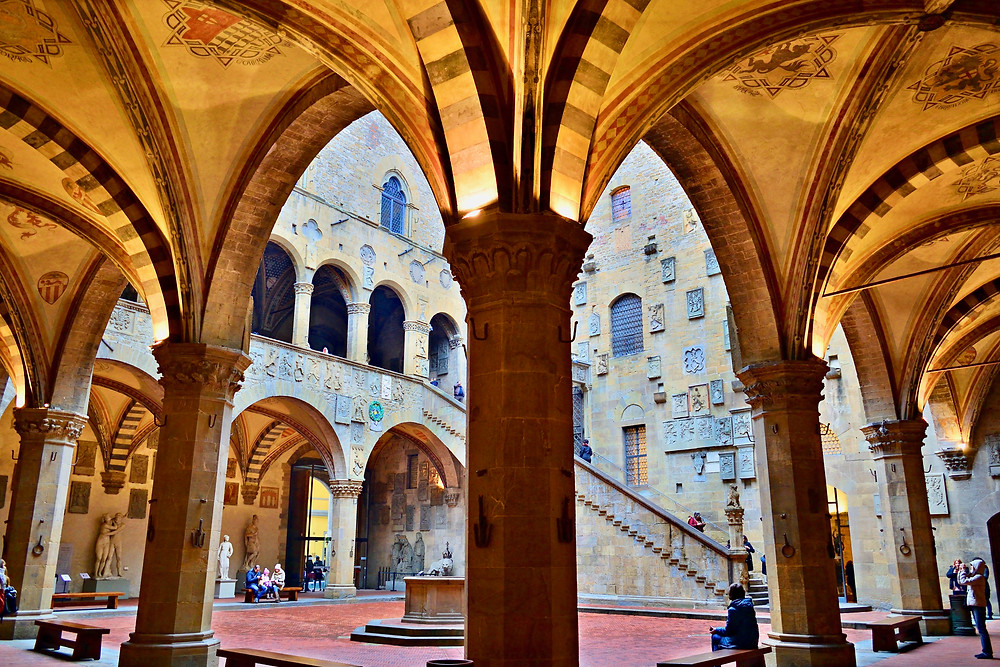 courtyard of the Bargello Museum