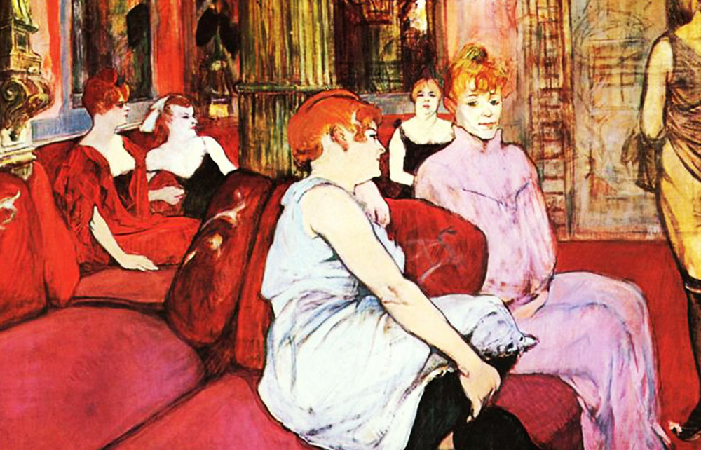 Toulouse-Lautrec, In the Salon at the Rue des Moulins, 1884