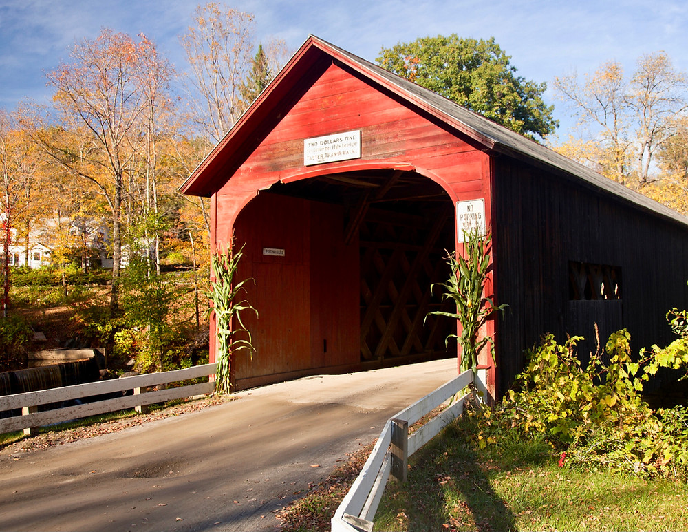 Green River covered bridge in Guilford