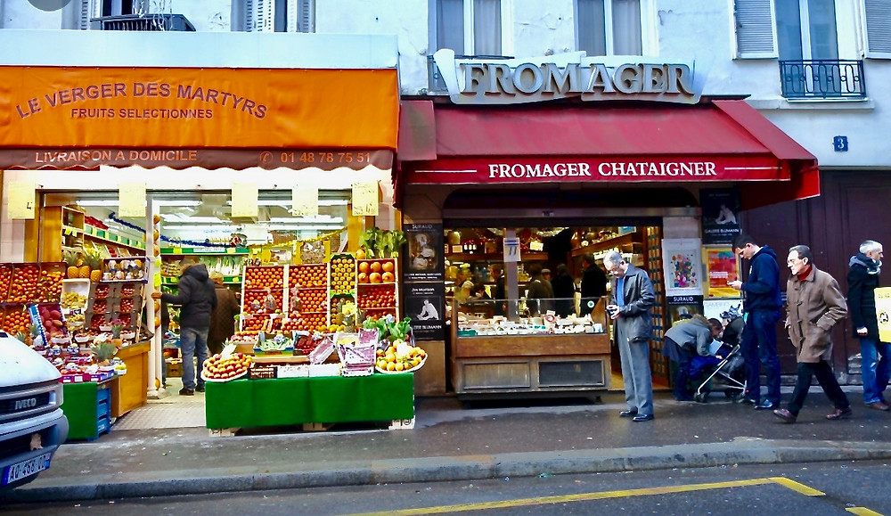 shops on the Rue des Martyrs