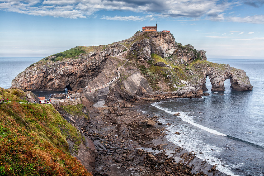 The hermitage church and bridge at San Juan de Gatztelugatxe