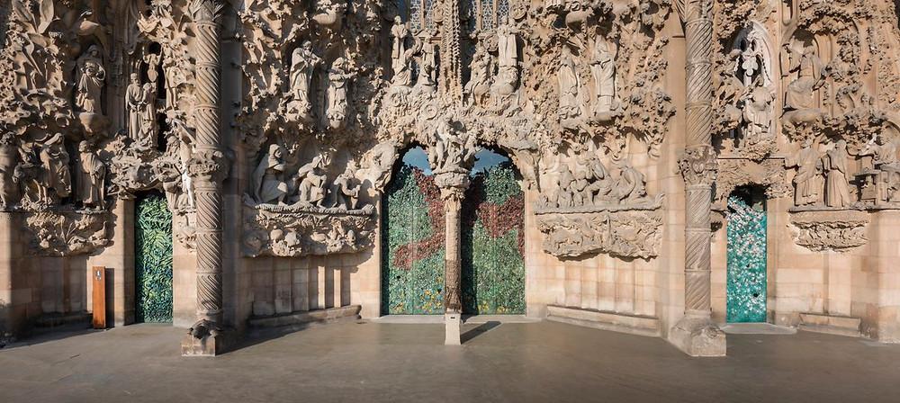 the three portals of the Nativity Facade