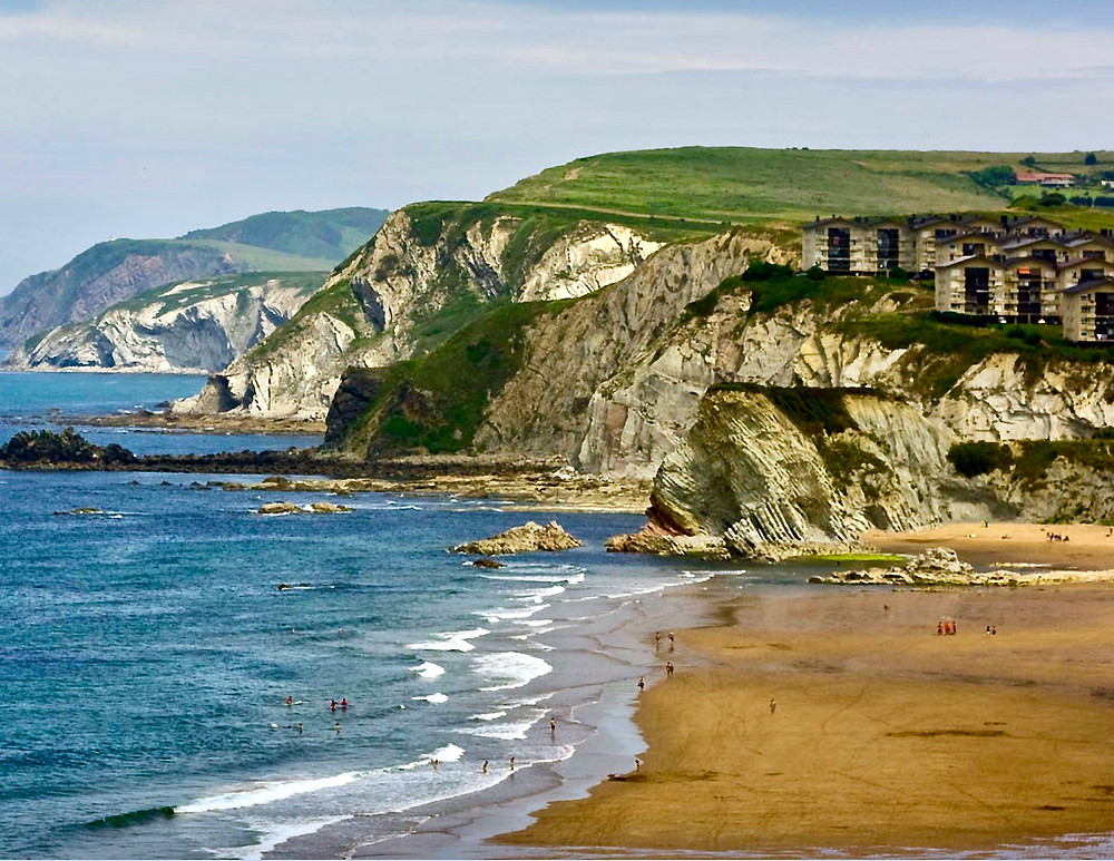 Sopalena Beach on the coast of northern Spain, 40 minutes from Bilbao