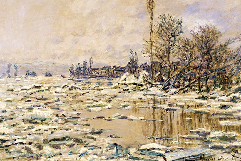 Claude Monet, The Break-up of Ice, 1880