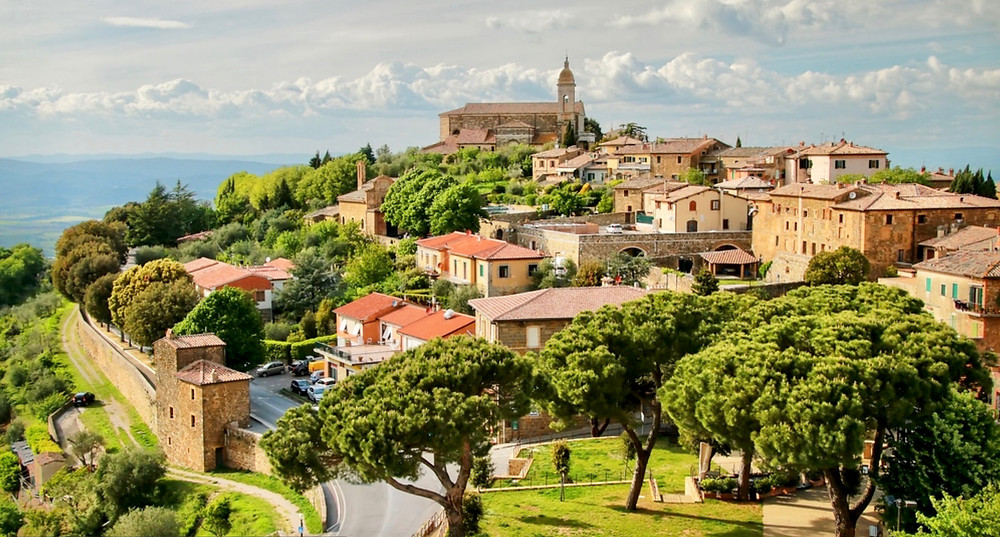 the Tuscan town of Montalcino
