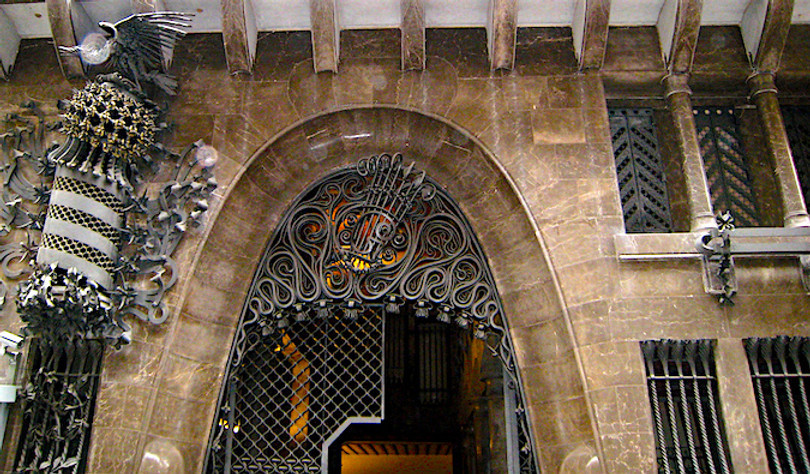 entrance to Palau Guell in the Gothic Quarter