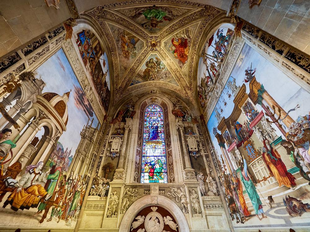 frescos in the Filippo Strozzi Chapel