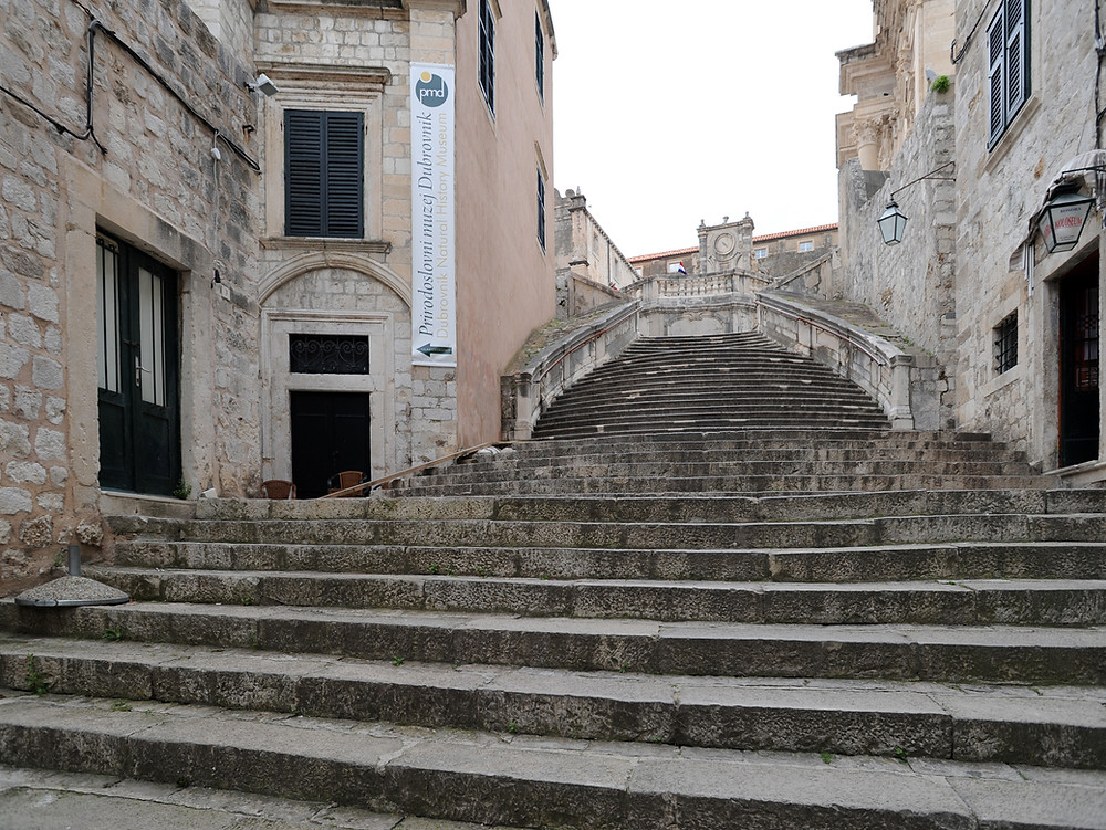 the jesuit Staircase in Dubrovnik, where Cersei makes her walk of shame
