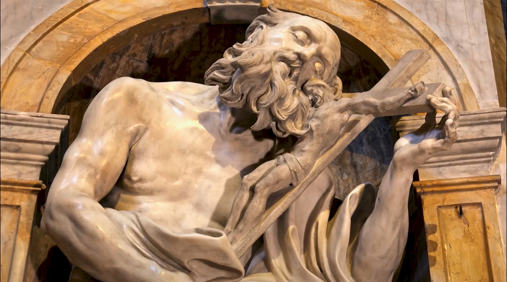 Bernini's sculpture of St. Jerome in the Chigi Chapel of Siena Cathedral