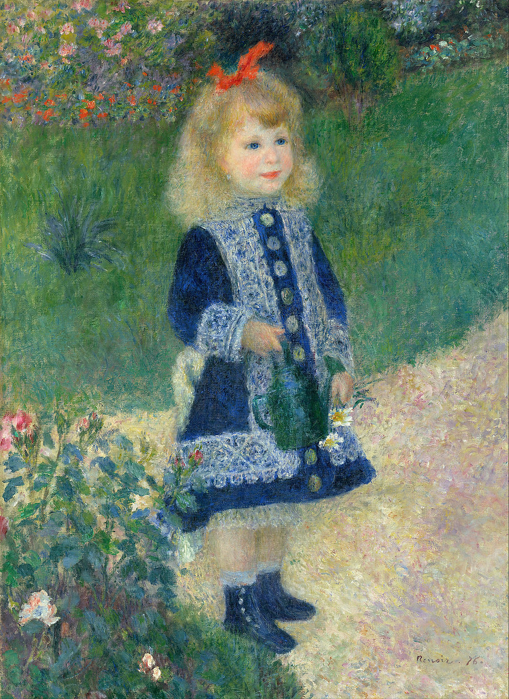 a rosy cheeked girl by Renoir