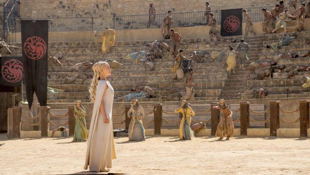 Daenerys waiting for Drogon