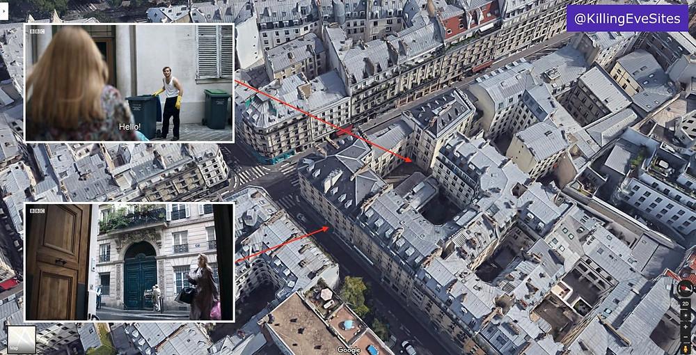 Villanelle's apartment on the Rue de Lancry in Paris
