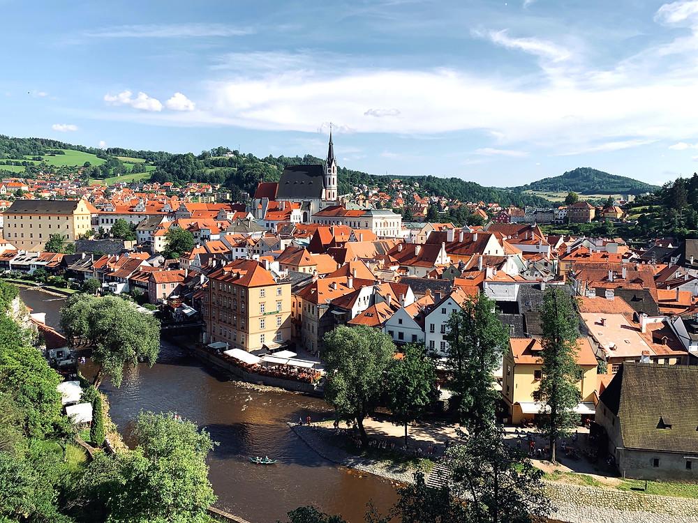 the pretty town of Cesky Krumlov