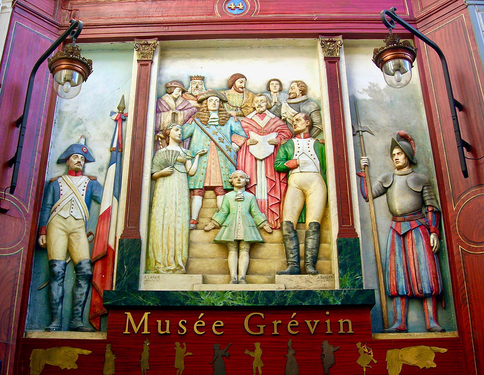 entrance to the Grevin Museum in Passage Joffrey