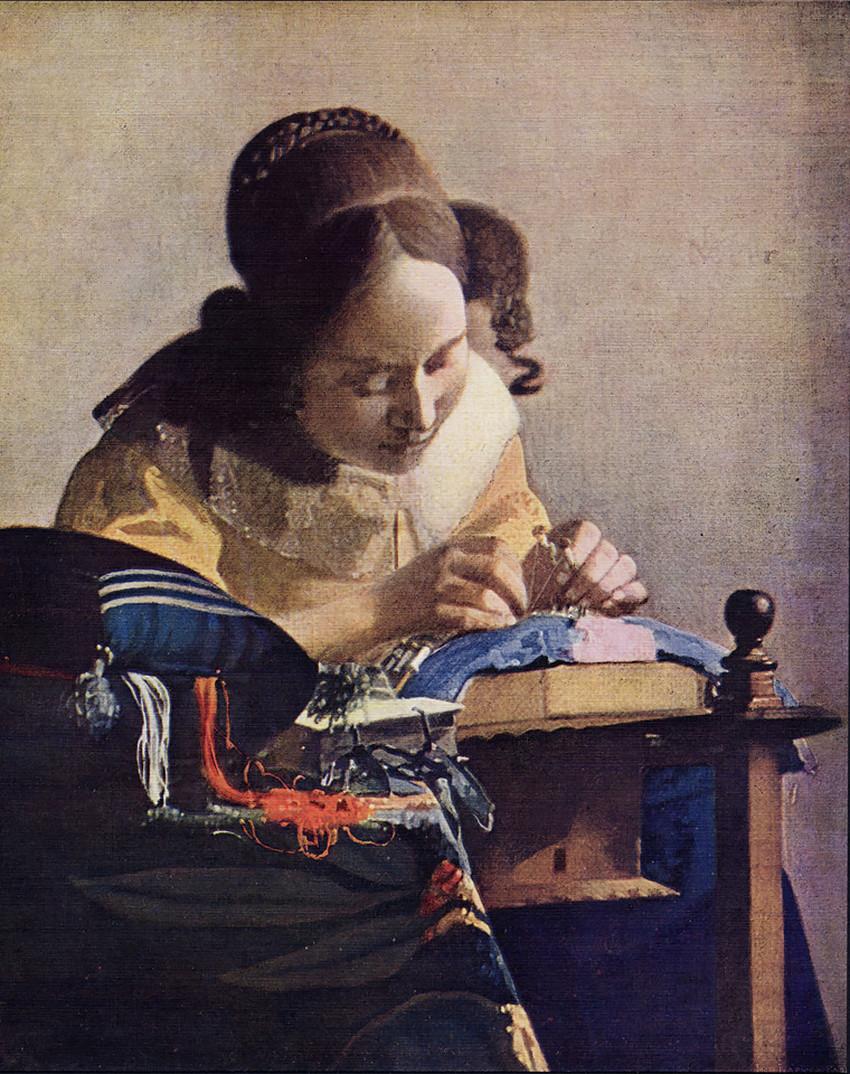 Johannes Vermeer, The Lacemaker, 1669-70