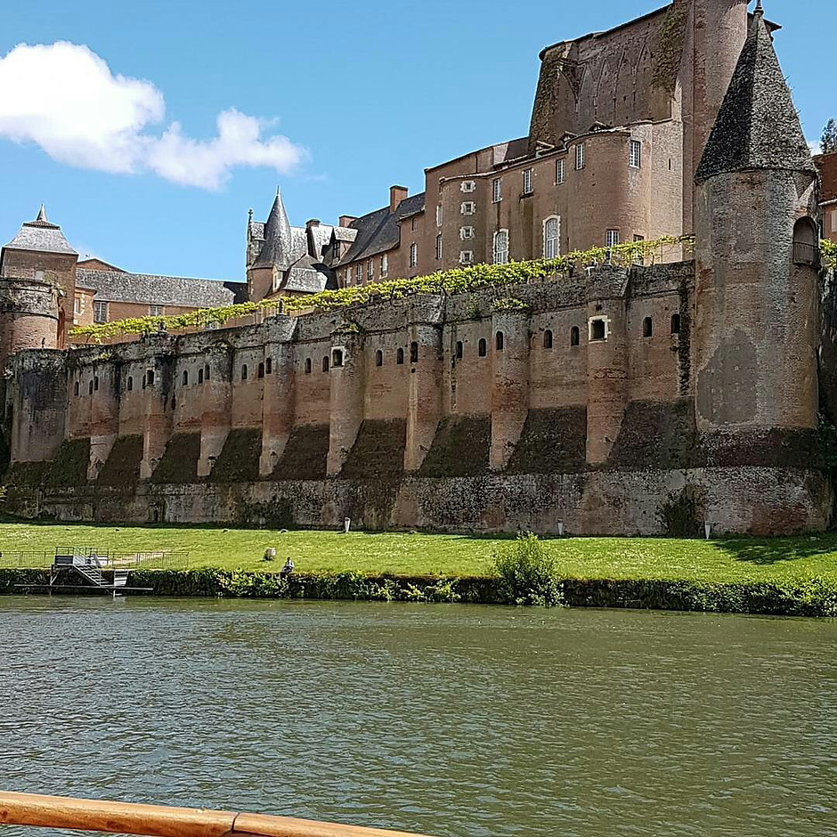 the UNESCO-listed Berbie Palace in Albi, which houses the Toulouse=-Lautrec Museum