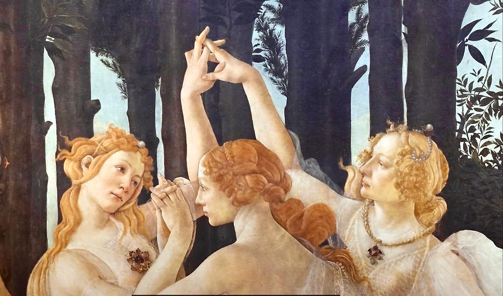 Botticelli, detail of Primavera, 1482