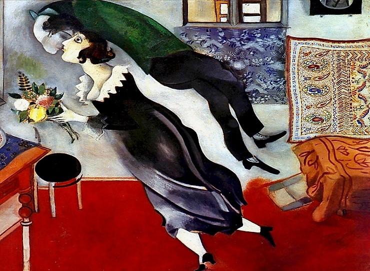Marc Chagall, The Birthday, 1887, at the Guggenheim Bilbao