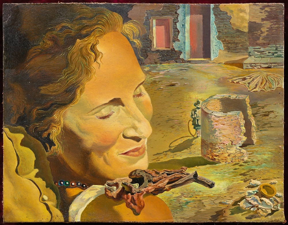"Dalí's ""Portrait of Gala with Two Chops Balanced on Her Shoulder"" is from around the time the couple married in 1934"