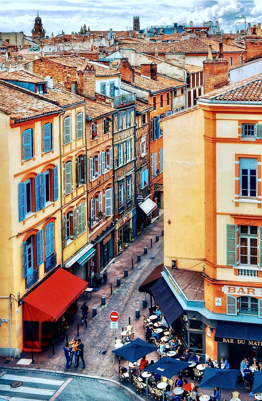 the Carmes neighborhood of Toulouse France