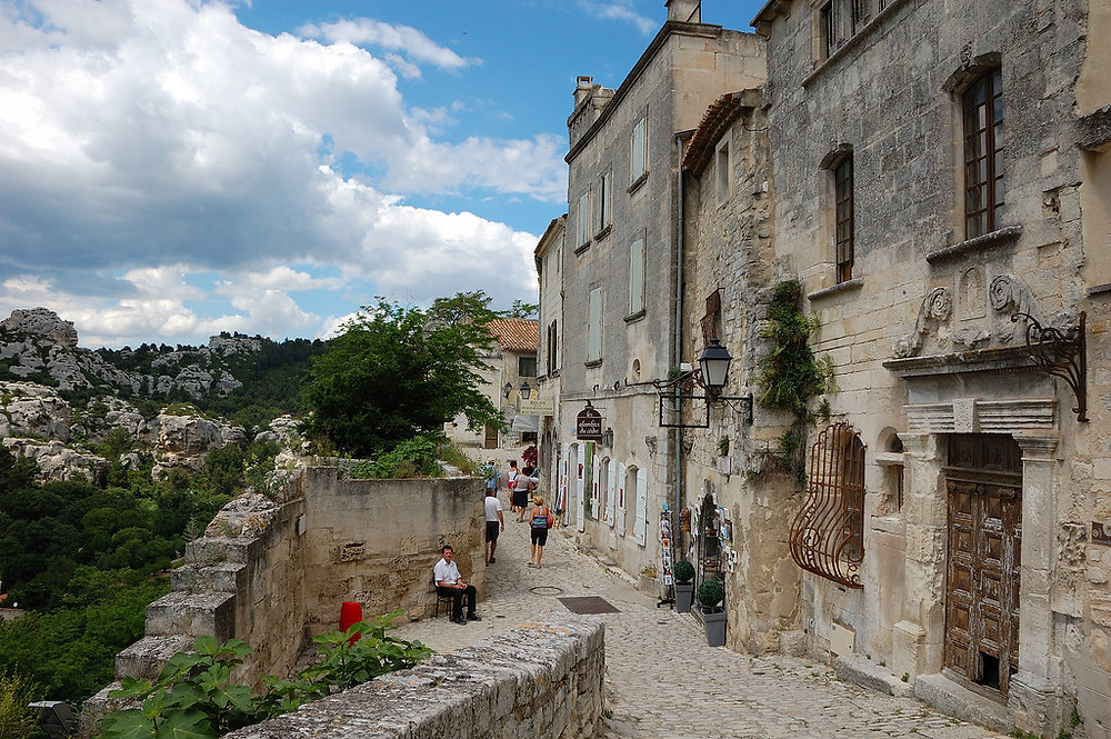 a street in Les Baux France
