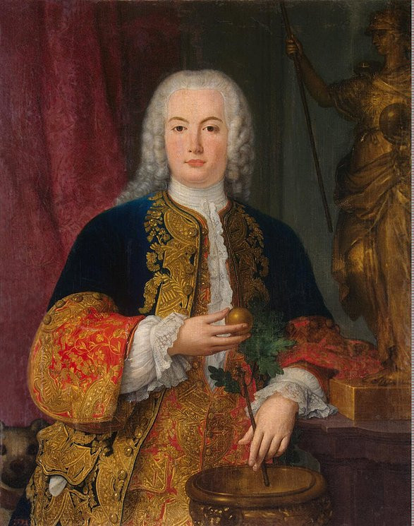 a young and lovestruck Prince Pedro in 1745