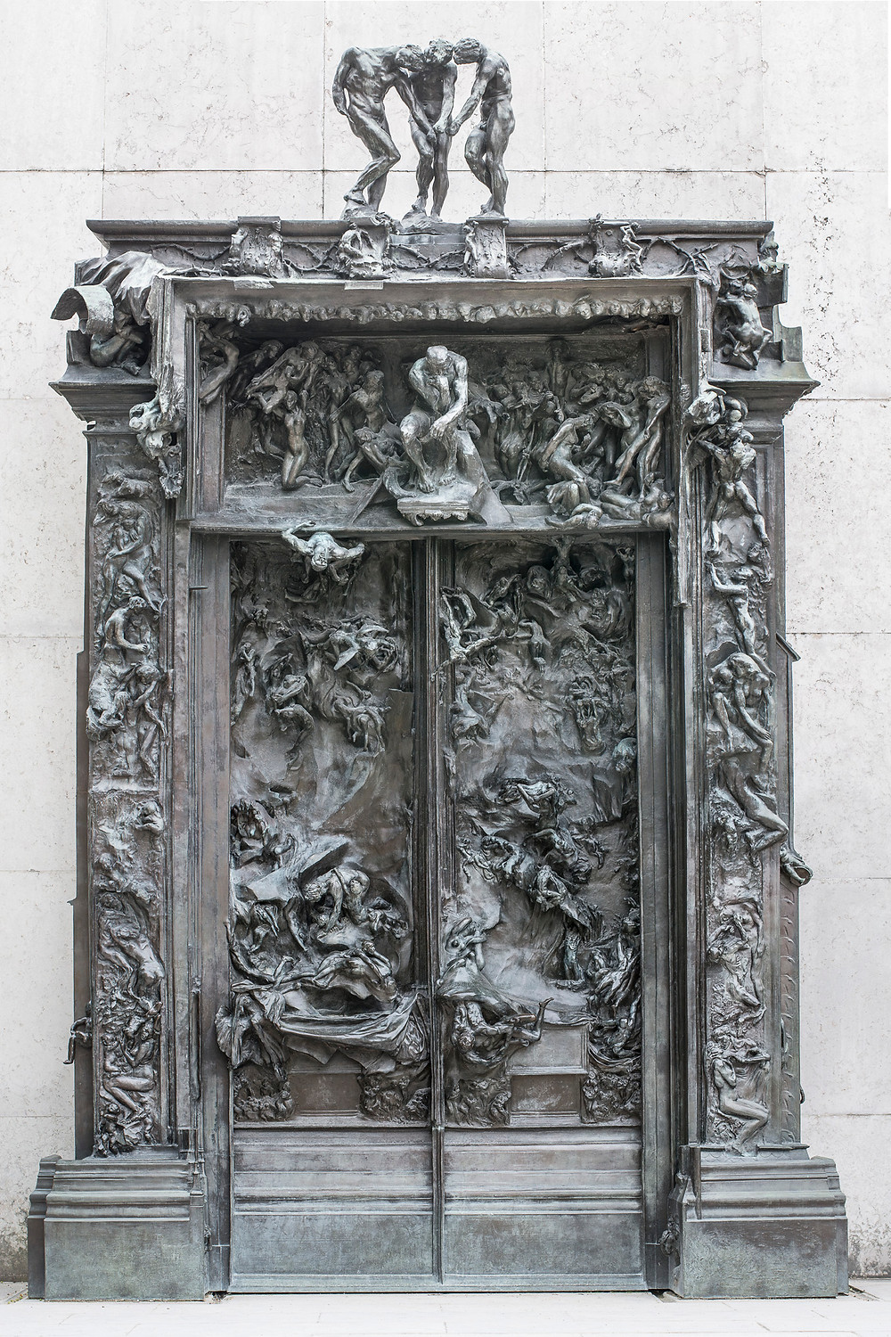 the bronze version of The Gates of Hell, in the Rodin Museum sculptural  garden