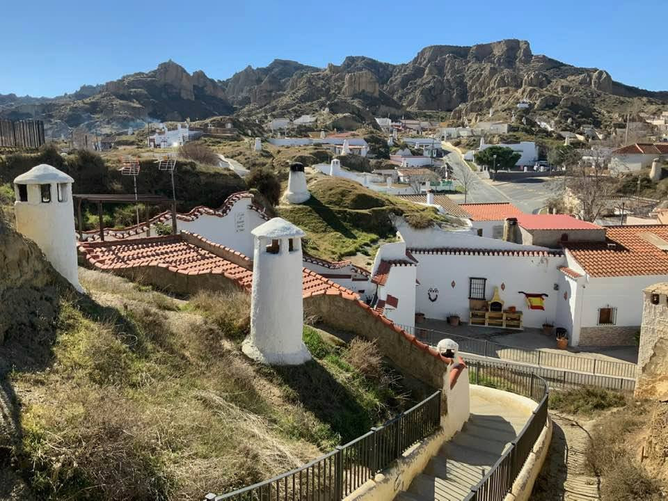 cave houses in Guadix Spain