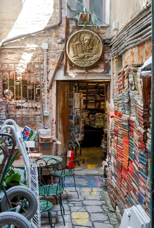 the Acqua Alta bookstore in Venice